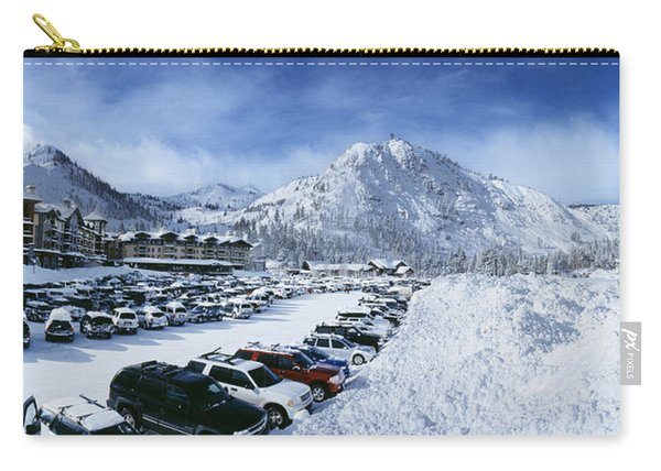 Snow Covered Cars In A Parking Lot Carry-all Pouch