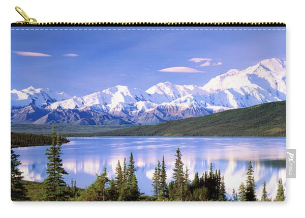 Snow Covered Mountains, Mountain Range Carry-all Pouch