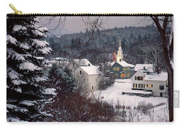 Snow Covered New England Winter Evening Carry-all Pouch