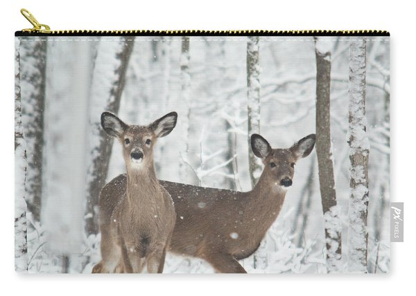 Snow Deer Carry-all Pouch