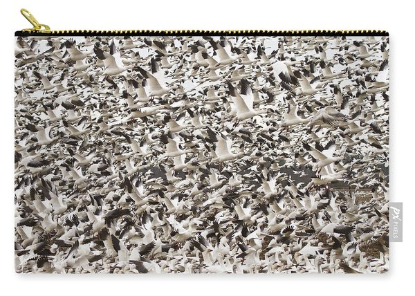 Snow Geese Blast Off Carry-all Pouch