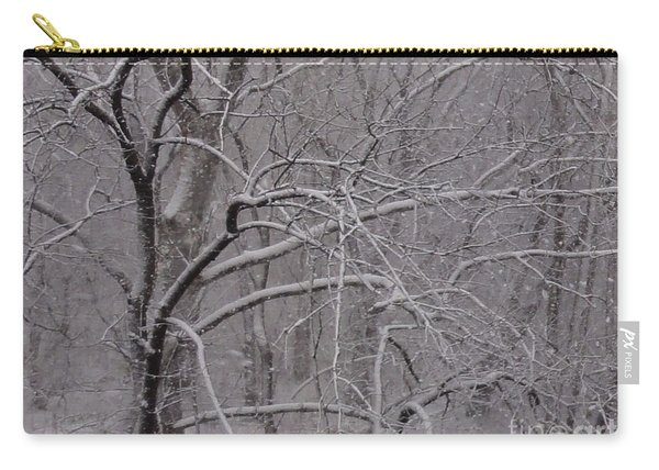 Snow In The Trees At Bulls Island Carry-all Pouch