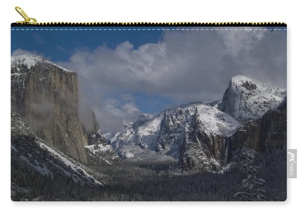 Snow Kissed Valley Carry-all Pouch