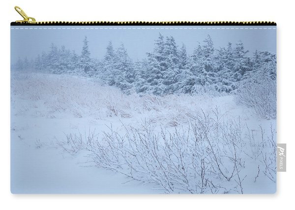 Carry-all Pouch featuring the photograph Snow On New Years Eve by Tim Newton