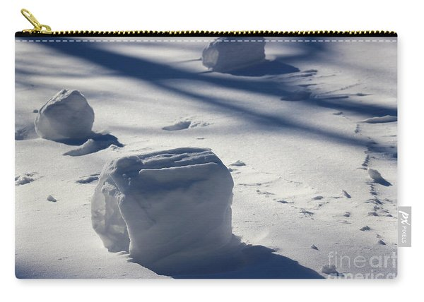 Snow Roller Trio In Shadows Carry-all Pouch