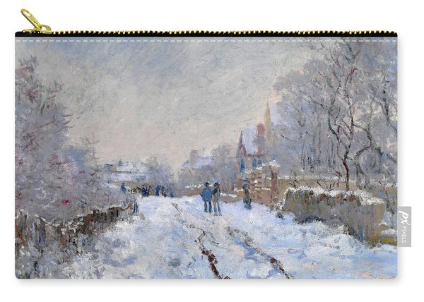 Snow Scene At Argenteuil Carry-all Pouch