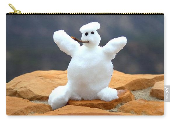Snowball Snowman Carry-all Pouch