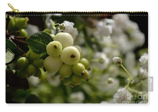 Carry-all Pouch featuring the photograph Snowberries by Scott Lyons
