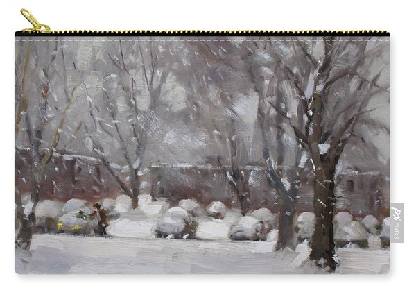 Snowfall In Royal Park Apartments Carry-all Pouch