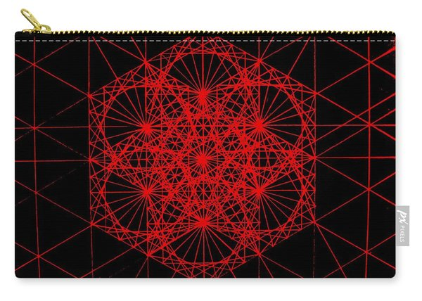 Snowflake Shape Comes From Frequency And Mass Carry-all Pouch