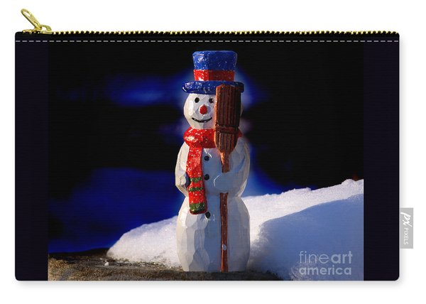 Snowman By George Wood Carry-all Pouch