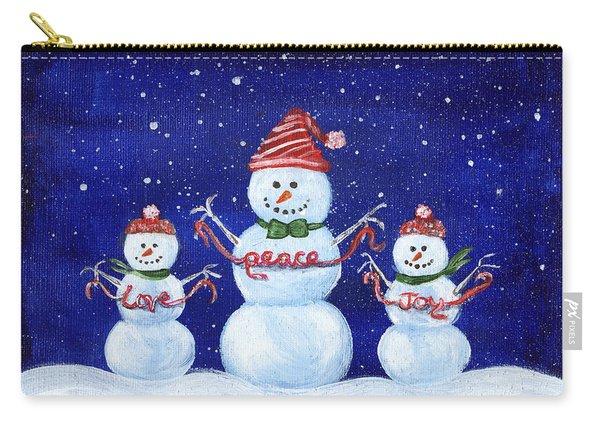 Snowmen Carry-all Pouch