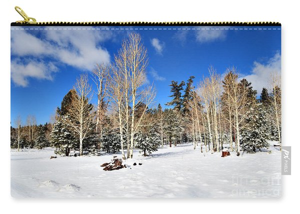 Snowy Aspen Grove Carry-all Pouch
