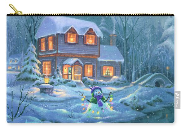 Snowy Bright Night Carry-all Pouch