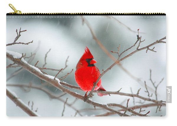 Snowy Cardinal Carry-all Pouch