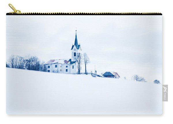 Snowy Church Carry-all Pouch