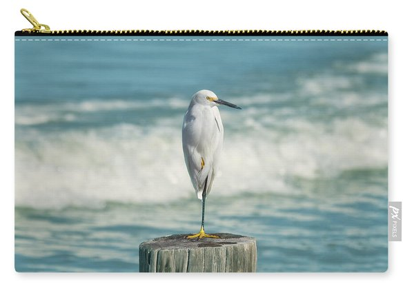 Snowy Egret - Naples Beach Carry-all Pouch