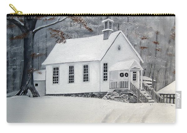 Snowy Gates Chapel  -little White Church - Ellijay Carry-all Pouch