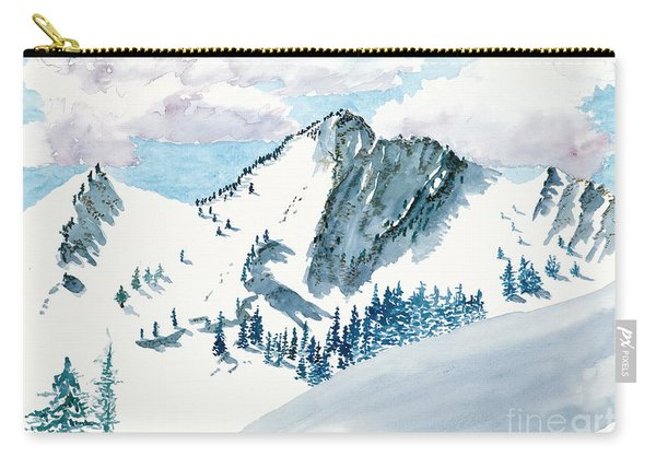 Snowy Wasatch Peak Carry-all Pouch