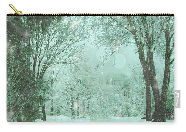 Snowy Winter Night Carry-all Pouch