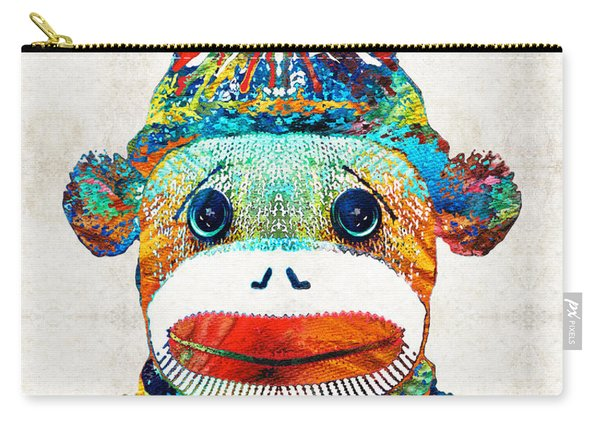 Sock Monkey Art - Your New Best Friend - By Sharon Cummings Carry-all Pouch