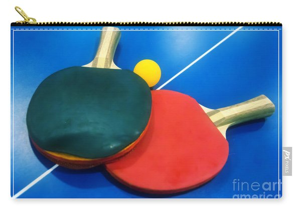 Soft Dreamy Ping-pong Bats Table Tennis Paddles Rackets On Blue Carry-all Pouch