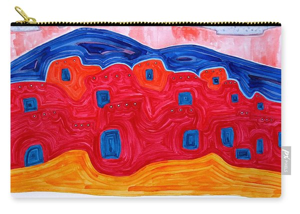 Soft Pueblo Original Painting Carry-all Pouch