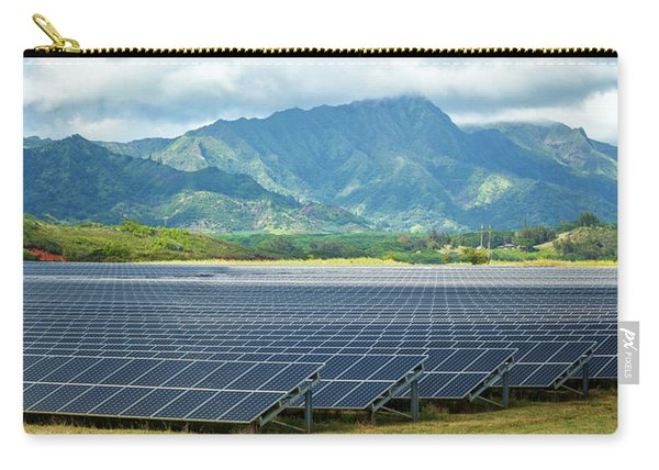 Solar Energy Panels On Field, Poipu Carry-all Pouch