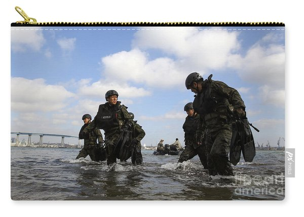 Soldiers With The Japan Ground Carry-all Pouch