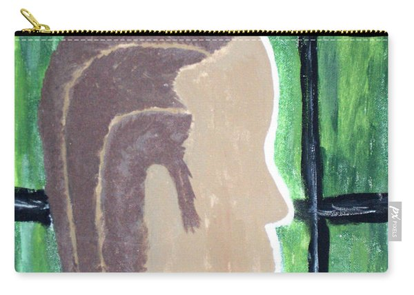 Abstract Man Art Painting  Carry-all Pouch