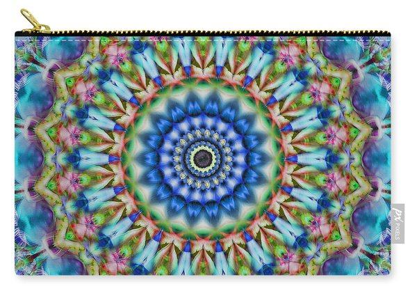 Soothing Blues Mandala Carry-all Pouch