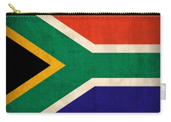 South Africa Flag Vintage Distressed Finish Carry-all Pouch