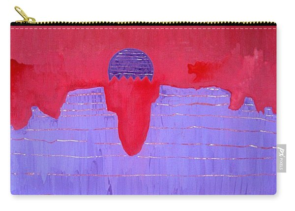 South Rim Sun Original Painting Carry-all Pouch