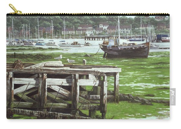 Carry-all Pouch featuring the painting Southampton Northam River Itchen Mudflats by Martin Davey
