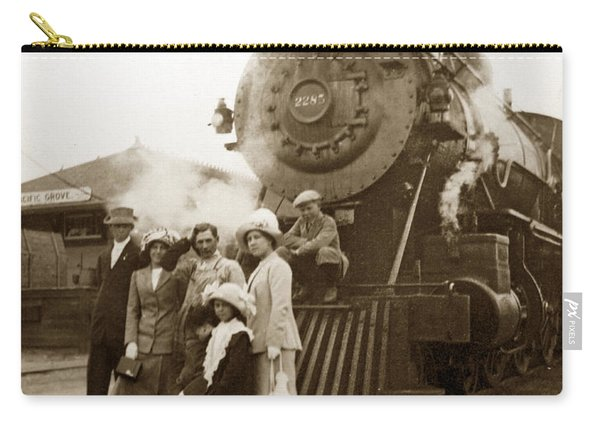 S P Baldwin Locomotive 2285  Class T-26 Ten Wheel Steam Locomotive At Pacific Grove California 1910 Carry-all Pouch