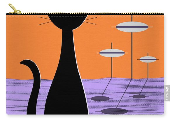Space Cat Orange Sky Carry-all Pouch