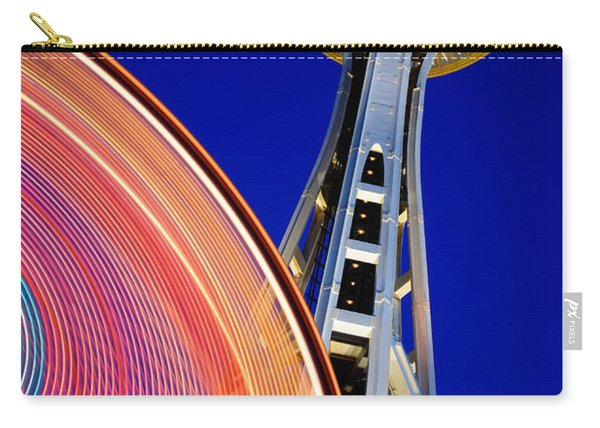 Space Needle Color Wheel Carry-all Pouch