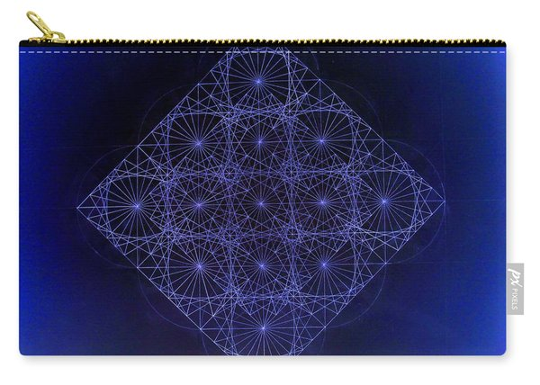 Space Time Sine Cosine And Tangent Waves Carry-all Pouch