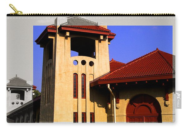 Spanish Architecture Tile Roof Tower Carry-all Pouch