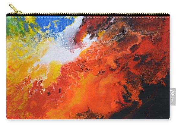 Spark Of Life Canvas Three Carry-all Pouch