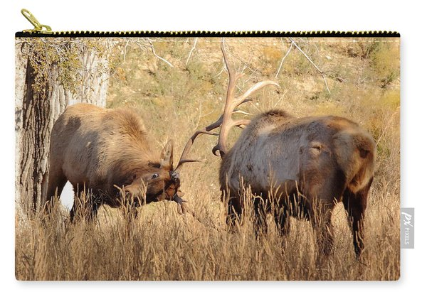 Sparring Elk Carry-all Pouch