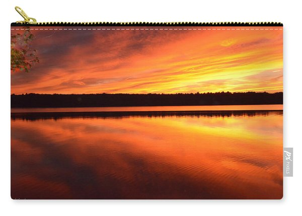 Spectacular Orange Mirror Carry-all Pouch