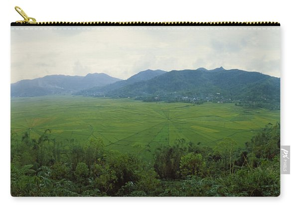 Spider Web Rice Field, Flores Island Carry-all Pouch
