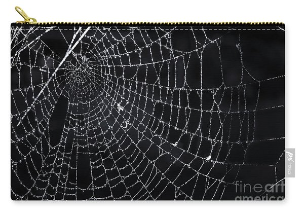 Spiderweb With Dew Carry-all Pouch