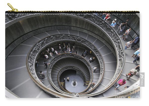 Spiral Staircase By Giuseppe Momo At The Vatican Museum. Rome. Italy Carry-all Pouch