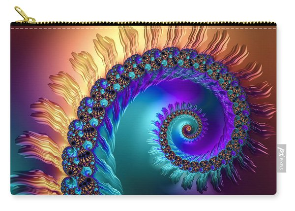 Spiral With Beautiful Orange Purple Turquoise Colors Carry-all Pouch