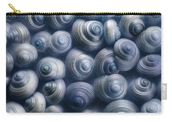 Spirals Blue Carry-all Pouch