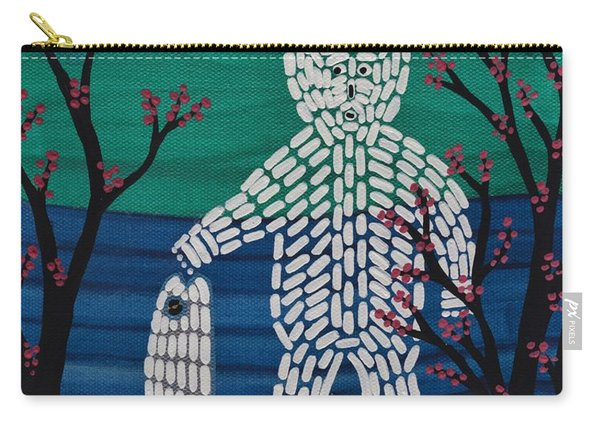 Carry-all Pouch featuring the painting Spirit Bear Bella Coola by Barbara St Jean