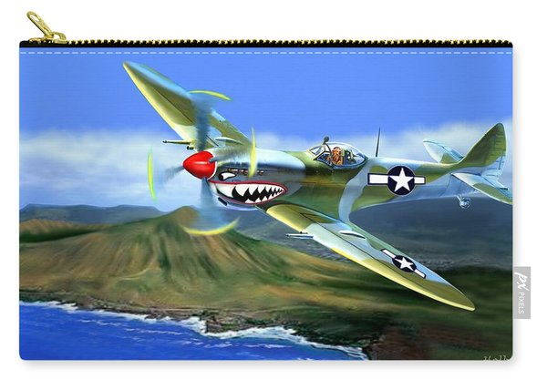 Spitfire Over Hawaii Carry-all Pouch