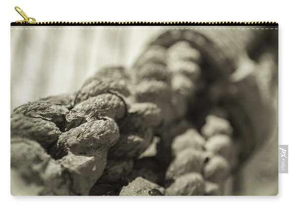 Spliced And Bound Black And White Sepia Carry-all Pouch